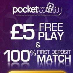 PocketWin Casino (pocketwin.co.uk) - £5 free bonus on mobile games