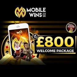 MobileWins €800 free bonus - progressive jackpot slots for mobile!
