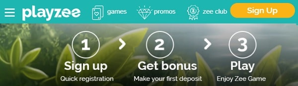 Playzee Casino - sign up, get bonus and play to win!