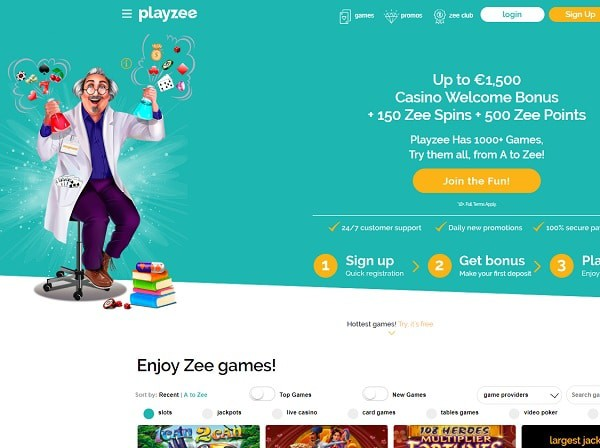 Playzee Casino snapshot - the best games online!
