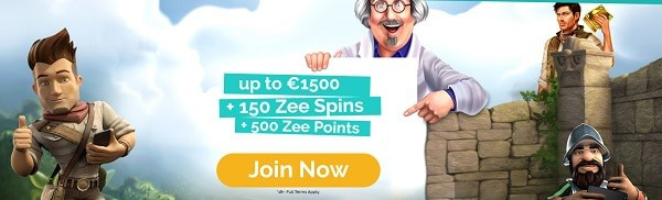 Join Playzee Casino and get 150 free spins + 1500 EUR welcome bonus + 500 loyalty points