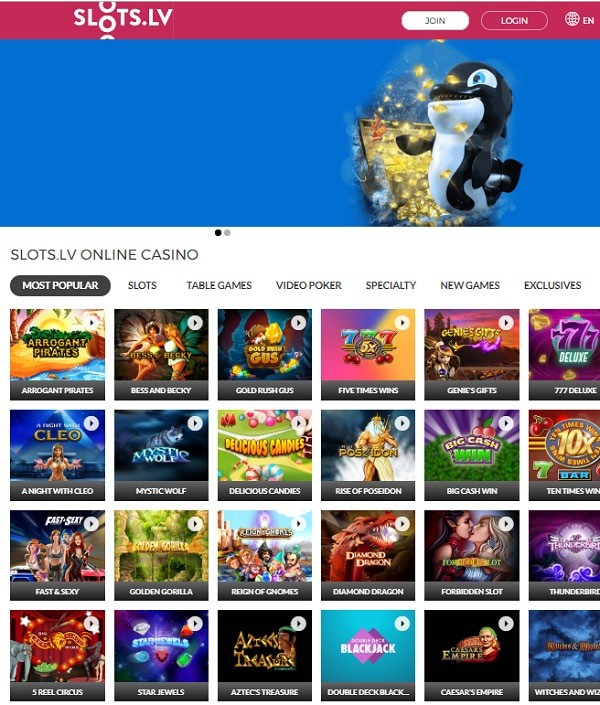 Slots.lv Casino free slots