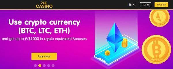 24K Crypto Casino, Bitcoin, Litecoin, Ripple, Ethereum