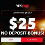 Red Dog Casino $25 free no deposit bonus (USA & Bitcoin friendly)