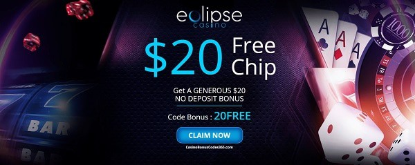 $20 exclusive bonus without deposit. All new players welcome!