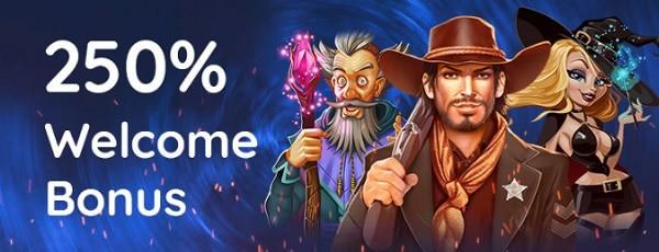 250% welcome bonus on first deposit