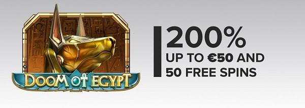 Legolasbet casino 200% bonus and 50 free spins