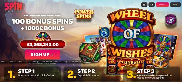 100 Wheel of Wishes Free Spins (jackpot)