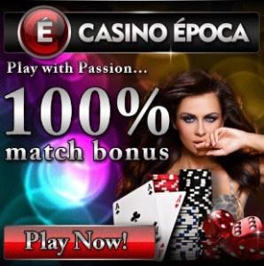 Casino Epoca | 100% up to €200 free money + €5 no deposit bonus