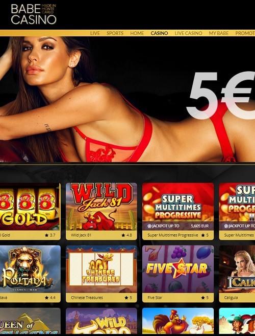 Babe.Casino free bonus