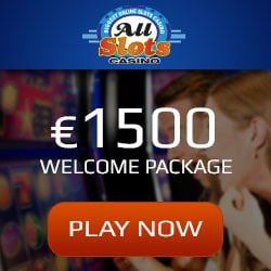 All Slots Casino 1500€ free cash and 100 free spins - welcome bonus
