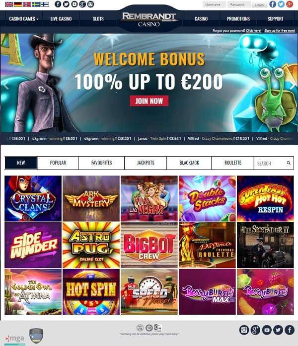 Rrembrandt Casino Review