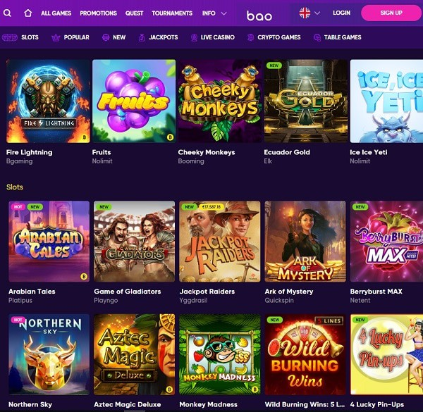 Bao Online Casino Reviews