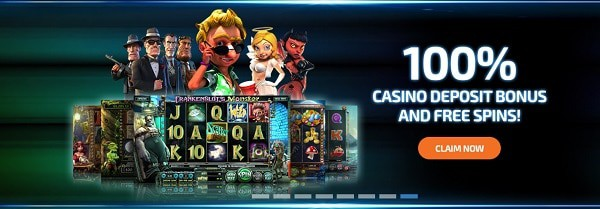 100% welcome bonus and 100 free spins