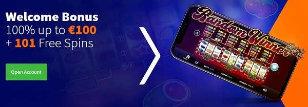 100% bonus and 101 gratis spins or 200% bonus and 200 free spins