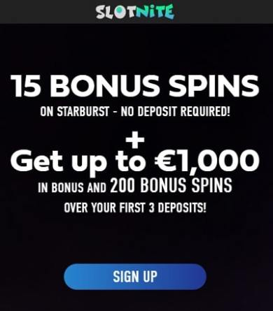 15 free spins no deposit required! Exclusive welcome bonus!