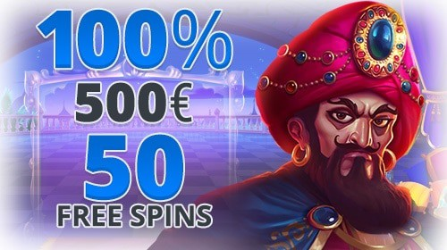 100% welcome bonus and 50 free spins on first deposit
