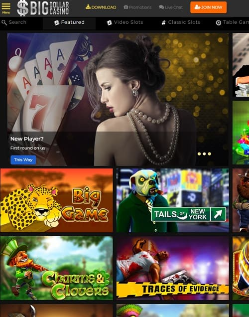 Big Dollar Casino - USA online casino with free chips and no deposit bonuses