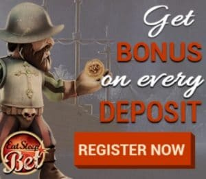 EAT SLEEP BET - 10 free spins (no wagering) and €600 free chip bonus