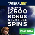 Astralbet Casino $2500 free bonus and 129 free spins