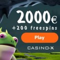 Casino-X 200 free spins and $2000 welcome bonus