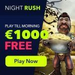 NightRush Casino 20 free spins (NDB) + $1000 free bonus on 2 deposits