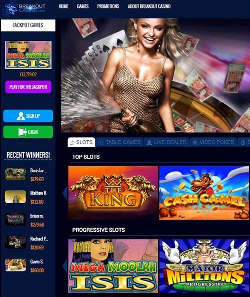 Breakout Casino free spins bonus