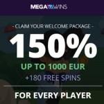 MegaWins.com Bitcoin Casino – 140 free spins & 1000 EUR bonus