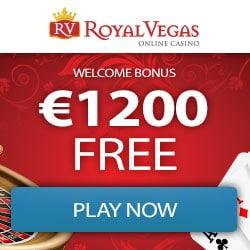 Royal Vegas Casino 100 exclusive free spins + €1200 free bonus chips