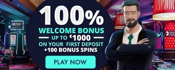 Jonny Jackpot Casino 100% welcome bonus and 100 free spins