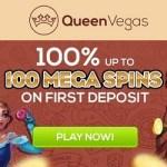 Queen Vegas Casino - sign up now! 100 Free Mega Spins Bonus
