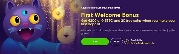 Take advantage of 1st deposit bonus