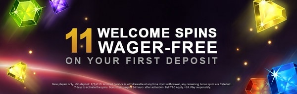 11 Free Spins to Video Slots Casino