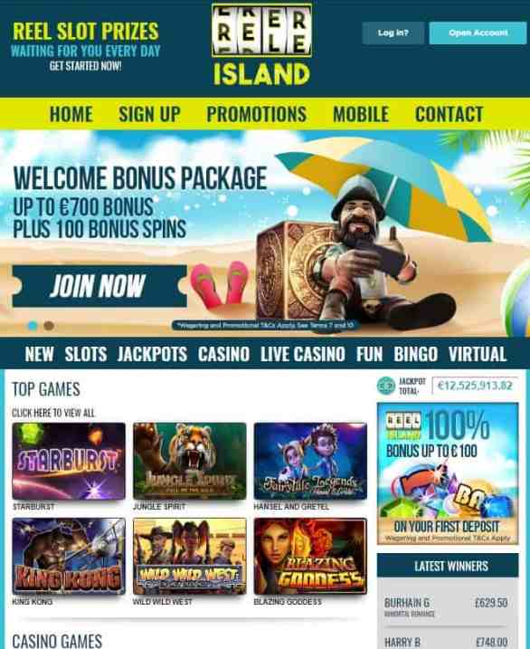 Reel Island Casino Review: free spins, bonus & promotions