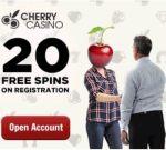 Cherry Casino 100 no deposit free spins and €600 free bonus