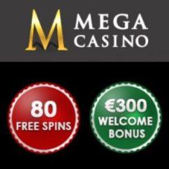 Mega Casino 10 gratis spins + 70 free spins + €200 free bonus