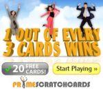 Prime Scratch Cards Casino - 120 free spins and €200 free bonus