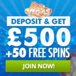 Slotty Vegas Casino | 75 free spins + 100% up to €500 bonus | review