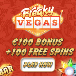 Freaky Vegas Casino | 100 free spins + 150% up to €150 bonus