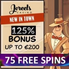 JoReels Casino 125% bonus and 75 gratis spins - Mobile & Live