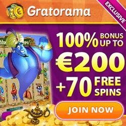 Gratorama Casino - 7€ free bonus no deposit required - fun time!