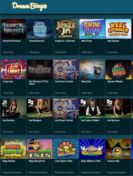 Dream Bingo Online Casino