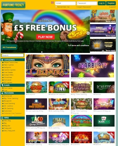Fortune Frenzy Casino Review