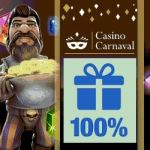 Casino Carnaval $600 free spins bonus on mobile slot games