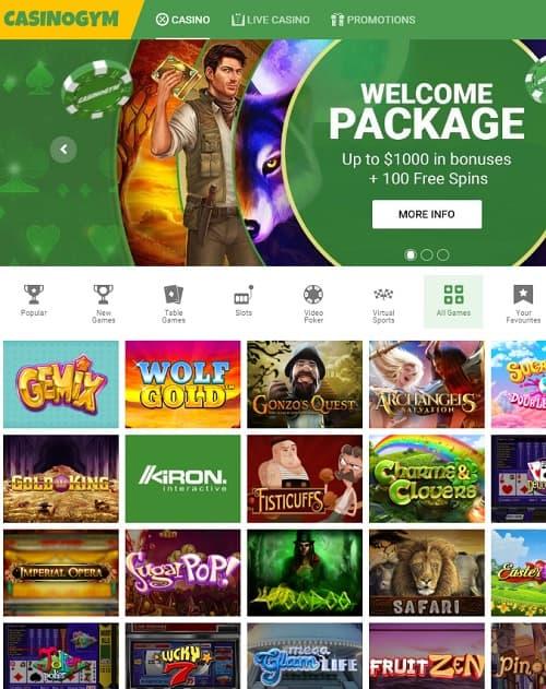 Casino Gym Casino frree spins bonus
