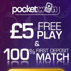 PocketWin Casino £5 bonus without depsosit + 200% free bonus