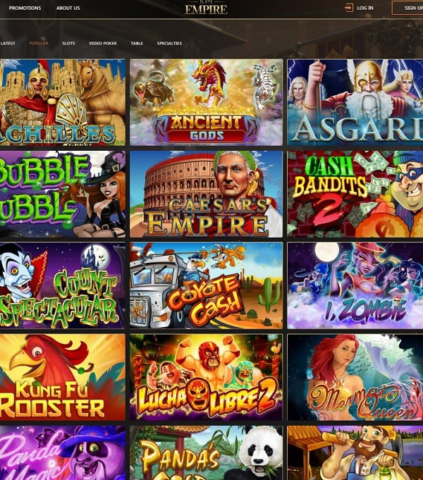 Slots Empire Online Casino review and rating