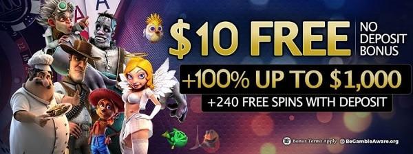 24 VIP Casino $10 gratis bonus