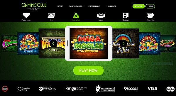 Gaming Club Casino online games and mobile slots
