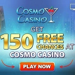 Is Cosmo Casino legit? Get 150 free spins bonus on deposit!